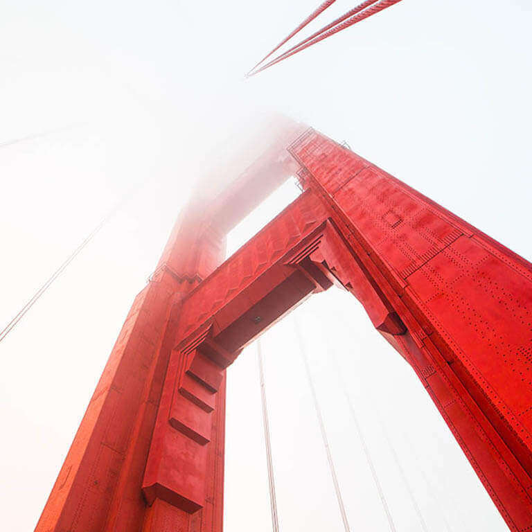 Divi - Awesome Woo Products - Golden Gate Bridge - Foggy Pillar top
